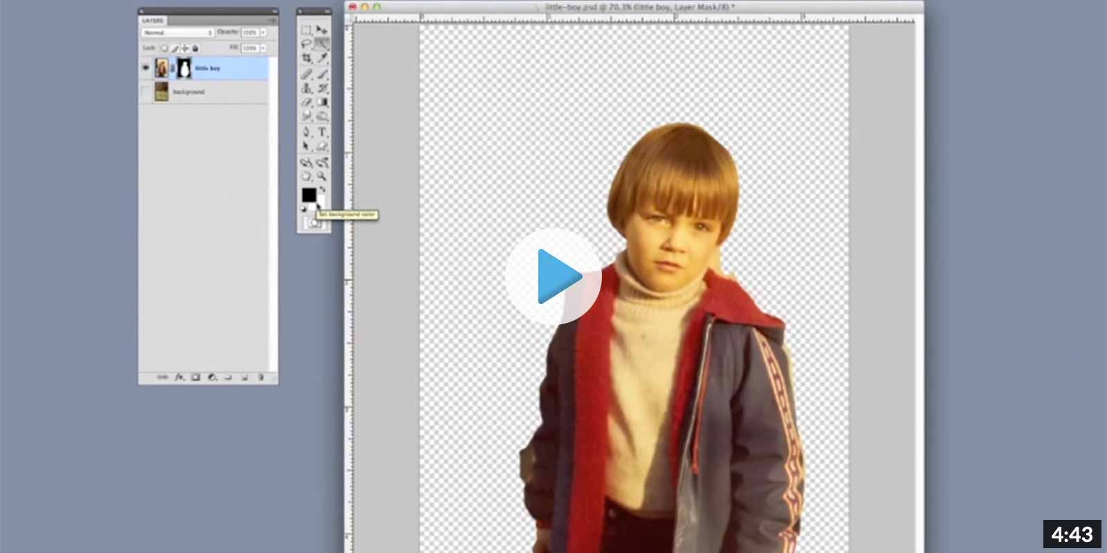 How to remove a background in photoshop - Video Tutorial