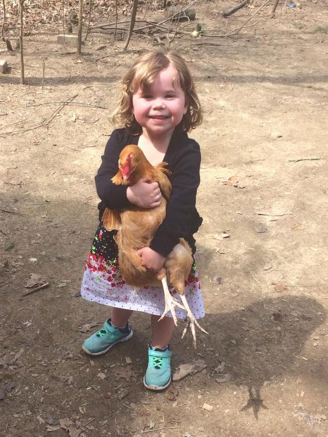 Rachel with Chicken